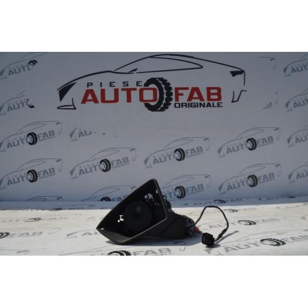 Oglindă stânga Seat Ibiza 6F an 2018-2020 încălzire, reglaj electric, semnalizare și RABATARE ELECTRICA, fără capac și oglindă