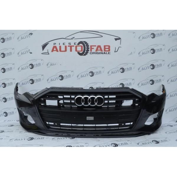 Bară față Audi A6 4K C8 an 2018-2020 cu găuri pentru Parktronic și spălătoare faruri