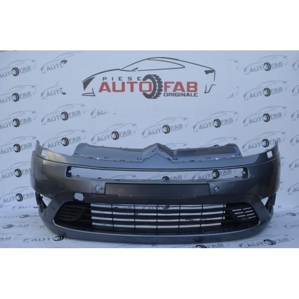 Bară față Citroen C4 Grand Picasso an 2005-2009 cu găuri pentru 6 senzori și spălătoare faruri